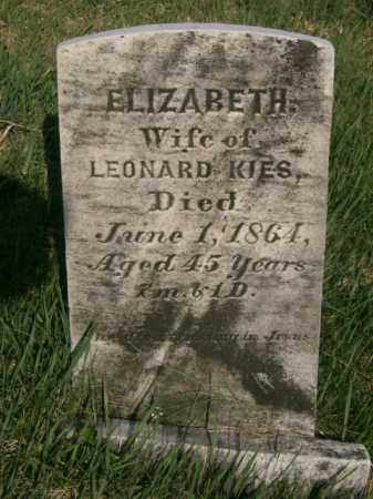 KIES, ELIZABETH - Lycoming County, Pennsylvania | ELIZABETH KIES - Pennsylvania Gravestone Photos