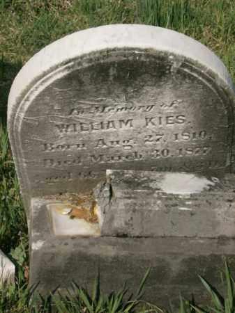 KIES, WILLIAM - Lycoming County, Pennsylvania   WILLIAM KIES - Pennsylvania Gravestone Photos