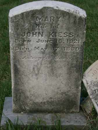 KIESS, MARY - Lycoming County, Pennsylvania | MARY KIESS - Pennsylvania Gravestone Photos