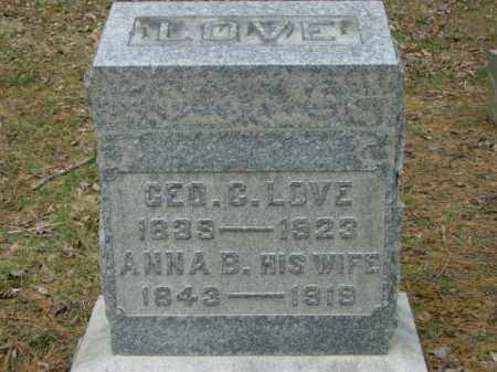 LOVE, ANNA - Lycoming County, Pennsylvania | ANNA LOVE - Pennsylvania Gravestone Photos