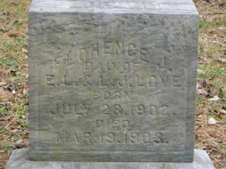 LOVE, FLORENCE - Lycoming County, Pennsylvania | FLORENCE LOVE - Pennsylvania Gravestone Photos