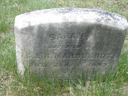 MARQUARDT, SARAH - Lycoming County, Pennsylvania   SARAH MARQUARDT - Pennsylvania Gravestone Photos