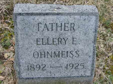 OHNMEISS, ELLERY - Lycoming County, Pennsylvania   ELLERY OHNMEISS - Pennsylvania Gravestone Photos