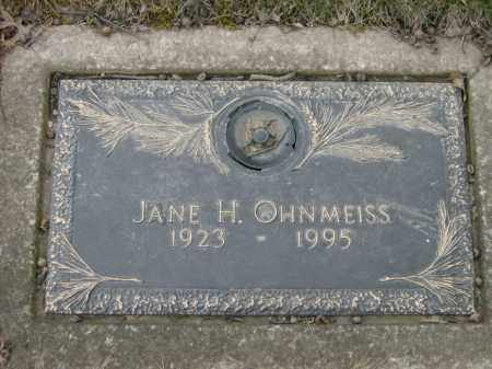 OHNMEISS, JANE - Lycoming County, Pennsylvania | JANE OHNMEISS - Pennsylvania Gravestone Photos
