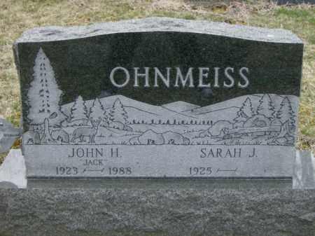 HINKAL OHNMEISS, SARAH - Lycoming County, Pennsylvania | SARAH HINKAL OHNMEISS - Pennsylvania Gravestone Photos