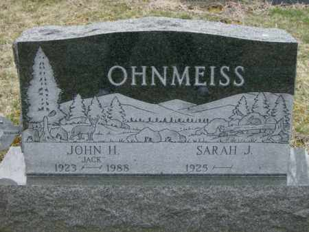 OHNMEISS, SARAH - Lycoming County, Pennsylvania | SARAH OHNMEISS - Pennsylvania Gravestone Photos