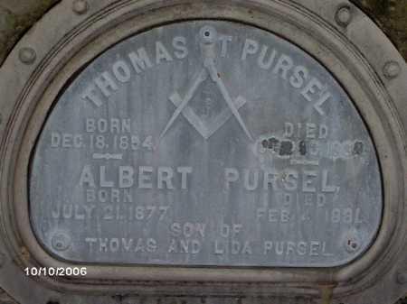 PURSEL, THOMAS - Lycoming County, Pennsylvania | THOMAS PURSEL - Pennsylvania Gravestone Photos