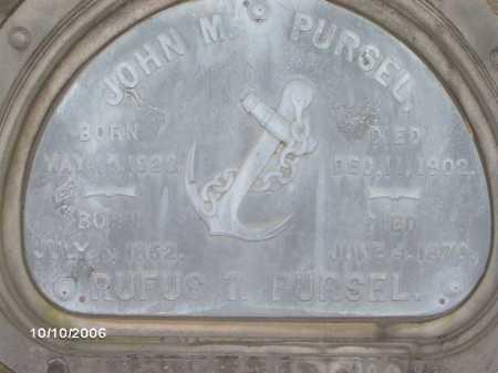 PURSEL, RUFUS - Lycoming County, Pennsylvania   RUFUS PURSEL - Pennsylvania Gravestone Photos