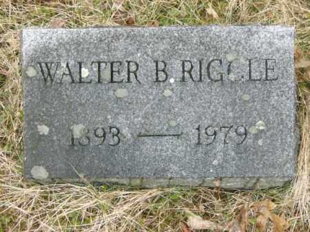 RIGGLE, WALTER - Lycoming County, Pennsylvania | WALTER RIGGLE - Pennsylvania Gravestone Photos