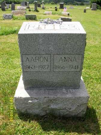 RITTER, AARON E - Lycoming County, Pennsylvania | AARON E RITTER - Pennsylvania Gravestone Photos
