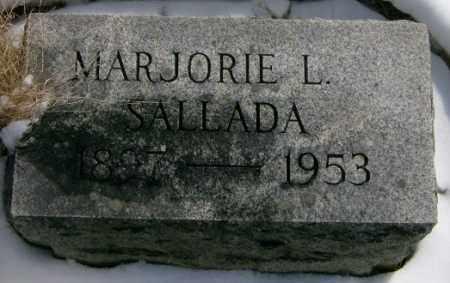 SALLADA, MARJORIE - Lycoming County, Pennsylvania | MARJORIE SALLADA - Pennsylvania Gravestone Photos
