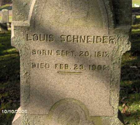 SCHNEIDER, LOUIS - Lycoming County, Pennsylvania | LOUIS SCHNEIDER - Pennsylvania Gravestone Photos