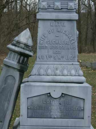 SECHLER, KATE - Lycoming County, Pennsylvania | KATE SECHLER - Pennsylvania Gravestone Photos