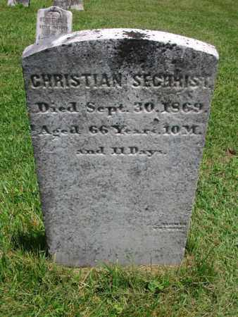 SECHRIST, CHRISTIAN - Lycoming County, Pennsylvania | CHRISTIAN SECHRIST - Pennsylvania Gravestone Photos