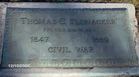 SLONACKER, THOMAS - Lycoming County, Pennsylvania | THOMAS SLONACKER - Pennsylvania Gravestone Photos