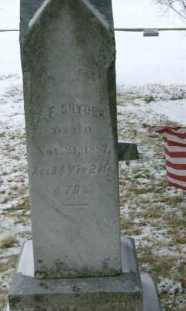 SNYDER, Z. F. - Lycoming County, Pennsylvania | Z. F. SNYDER - Pennsylvania Gravestone Photos
