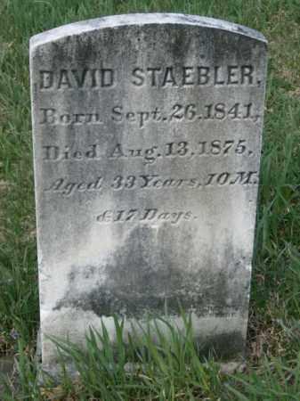 STAEBLER, DAVID - Lycoming County, Pennsylvania | DAVID STAEBLER - Pennsylvania Gravestone Photos