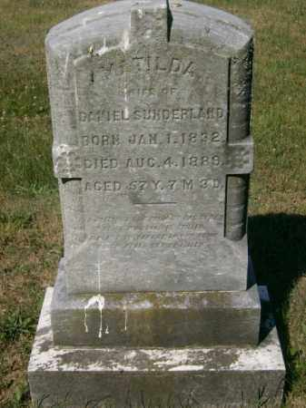 SUNDERLAND, MATILDA - Lycoming County, Pennsylvania | MATILDA SUNDERLAND - Pennsylvania Gravestone Photos