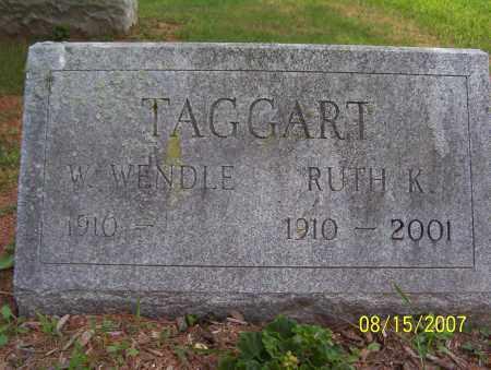 TAGGART, RUTH K. - Lycoming County, Pennsylvania   RUTH K. TAGGART - Pennsylvania Gravestone Photos