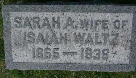 WALTZ, SARAH - Lycoming County, Pennsylvania   SARAH WALTZ - Pennsylvania Gravestone Photos