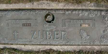 ZUBER, ERMA - Lycoming County, Pennsylvania | ERMA ZUBER - Pennsylvania Gravestone Photos