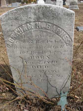 BARNES  (CW), ABRAHAM H. - Monroe County, Pennsylvania | ABRAHAM H. BARNES  (CW) - Pennsylvania Gravestone Photos