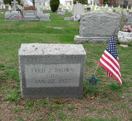 BROWN, FRED J. - Monroe County, Pennsylvania | FRED J. BROWN - Pennsylvania Gravestone Photos