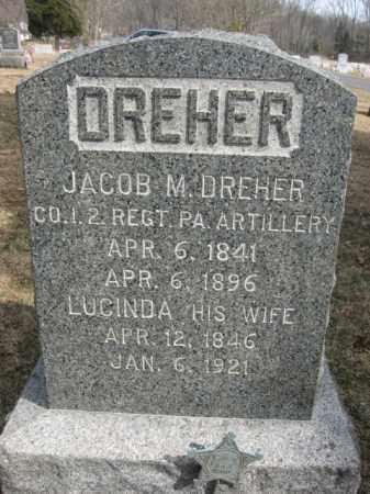DREHER  (CW), JACOB M. - Monroe County, Pennsylvania | JACOB M. DREHER  (CW) - Pennsylvania Gravestone Photos