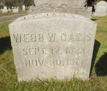 GARIS, WEBB W. - Monroe County, Pennsylvania | WEBB W. GARIS - Pennsylvania Gravestone Photos