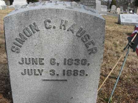 HAUSER, SIMON C. - Monroe County, Pennsylvania | SIMON C. HAUSER - Pennsylvania Gravestone Photos