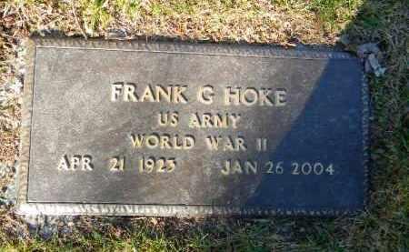 HOKE (WW II), FRANK G. - Monroe County, Pennsylvania | FRANK G. HOKE (WW II) - Pennsylvania Gravestone Photos