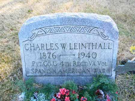 LEINTHALL (SAW), CHARLES W. - Monroe County, Pennsylvania | CHARLES W. LEINTHALL (SAW) - Pennsylvania Gravestone Photos