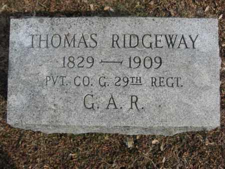 RIDGEWAY (CW), THOMAS S. - Monroe County, Pennsylvania | THOMAS S. RIDGEWAY (CW) - Pennsylvania Gravestone Photos