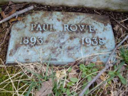 ROWE, PAUL - Monroe County, Pennsylvania | PAUL ROWE - Pennsylvania Gravestone Photos