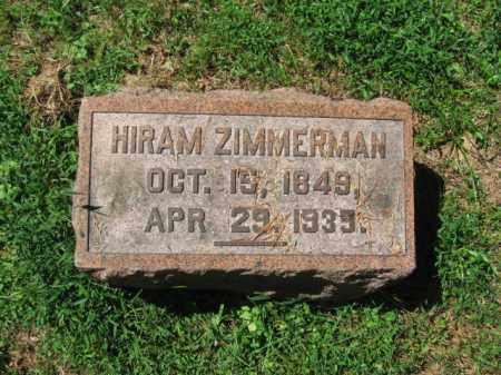 ZIMMERMAN, HIRAM - Monroe County, Pennsylvania   HIRAM ZIMMERMAN - Pennsylvania Gravestone Photos