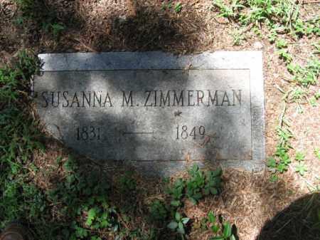 ZIMMERMAN, SUSANNA M. - Monroe County, Pennsylvania   SUSANNA M. ZIMMERMAN - Pennsylvania Gravestone Photos