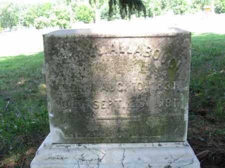 ALLABOUGH (CW), JOSEPH (JOSIAH) - Montgomery County, Pennsylvania | JOSEPH (JOSIAH) ALLABOUGH (CW) - Pennsylvania Gravestone Photos