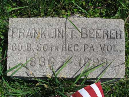 BEERER (CW), FRANKLIN T. - Montgomery County, Pennsylvania | FRANKLIN T. BEERER (CW) - Pennsylvania Gravestone Photos