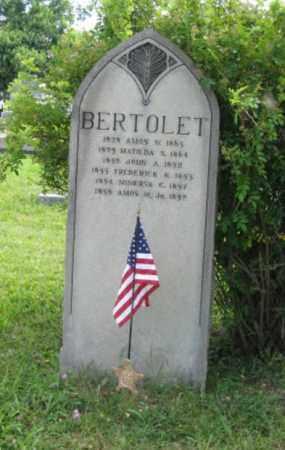 BERTOLET (CW), AMOS W. - Montgomery County, Pennsylvania | AMOS W. BERTOLET (CW) - Pennsylvania Gravestone Photos