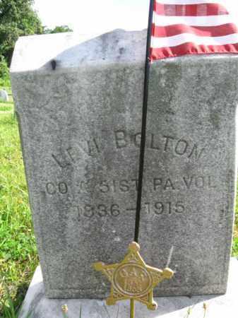 BOLTON (CW), LEVI - Montgomery County, Pennsylvania | LEVI BOLTON (CW) - Pennsylvania Gravestone Photos