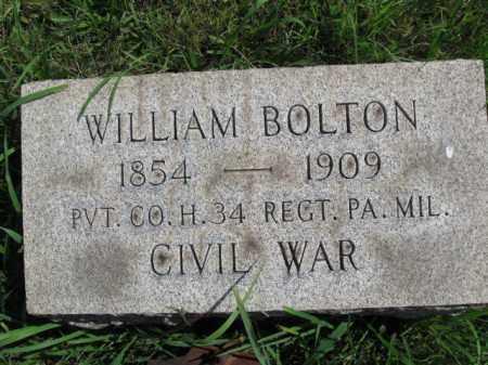BOLTON (CW), WILLIAM - Montgomery County, Pennsylvania | WILLIAM BOLTON (CW) - Pennsylvania Gravestone Photos