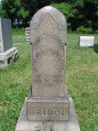 BRISON (CW), WILLIAM S. - Montgomery County, Pennsylvania   WILLIAM S. BRISON (CW) - Pennsylvania Gravestone Photos