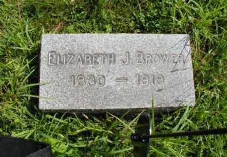 BROWER (CW), ELIZABETH J. - Montgomery County, Pennsylvania | ELIZABETH J. BROWER (CW) - Pennsylvania Gravestone Photos