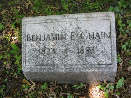 CHAIN (CW), BENJAMIN E. - Montgomery County, Pennsylvania   BENJAMIN E. CHAIN (CW) - Pennsylvania Gravestone Photos