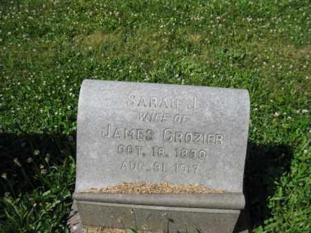 CROZIER, SARAH J. - Montgomery County, Pennsylvania | SARAH J. CROZIER - Pennsylvania Gravestone Photos
