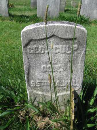 CULP (CW), GEORGE - Montgomery County, Pennsylvania | GEORGE CULP (CW) - Pennsylvania Gravestone Photos