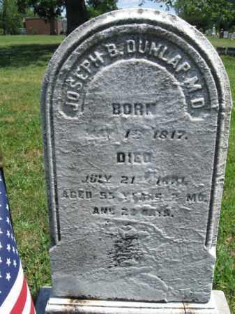 DUNLAP (CW), JOSEPH B. - Montgomery County, Pennsylvania | JOSEPH B. DUNLAP (CW) - Pennsylvania Gravestone Photos
