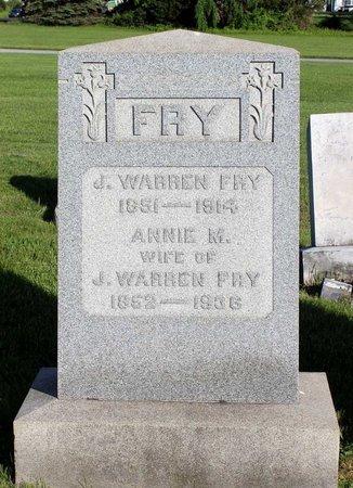 FRY, ANNIE M. - Montgomery County, Pennsylvania | ANNIE M. FRY - Pennsylvania Gravestone Photos