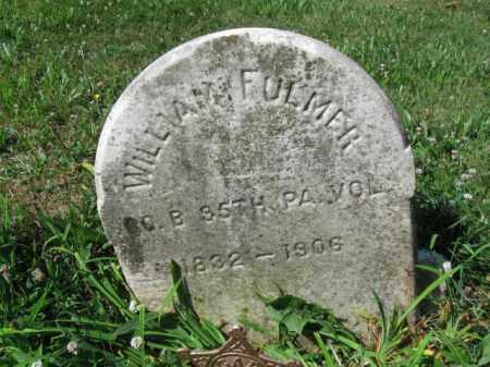 FULMER (CW), WILLIAM - Montgomery County, Pennsylvania | WILLIAM FULMER (CW) - Pennsylvania Gravestone Photos