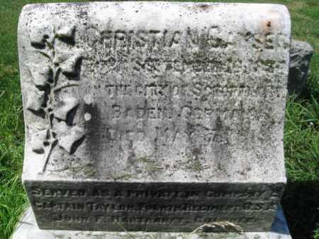 GANSER (CW), CHRISTIAN - Montgomery County, Pennsylvania   CHRISTIAN GANSER (CW) - Pennsylvania Gravestone Photos